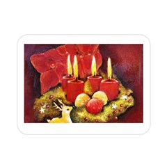 Holiday Candles  Double Sided Flano Blanket (Mini)