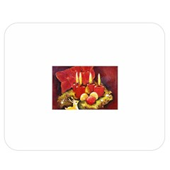 Holiday Candles  Double Sided Flano Blanket (medium)