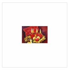 Holiday Candles  Large Satin Scarf (Square)