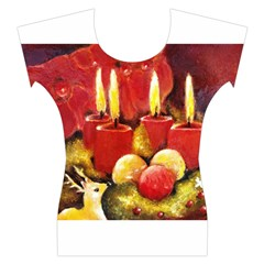 Holiday Candles  Women s Cap Sleeve Top