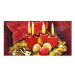 Holiday Candles  Satin Shawl
