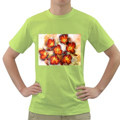 Fall Flowers Green T-Shirt