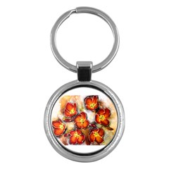 Fall Flowers Key Chains (round)