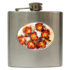 Fall Flowers Hip Flask (6 Oz)