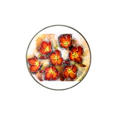Fall Flowers Hat Clip Ball Marker (4 Pack)