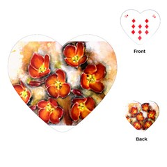 Fall Flowers Playing Cards (heart)