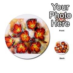 Fall Flowers Multi-purpose Cards (Round)