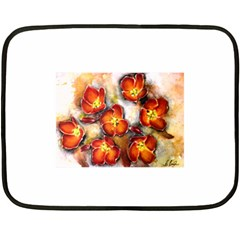 Fall Flowers Fleece Blanket (mini)