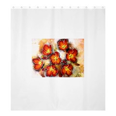 Fall Flowers Shower Curtain 66  x 72  (Large)