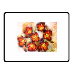 Fall Flowers Fleece Blanket (small)