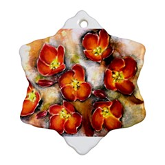 Fall Flowers Snowflake Ornament (2 Side)