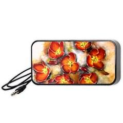 Fall Flowers Portable Speaker (Black)