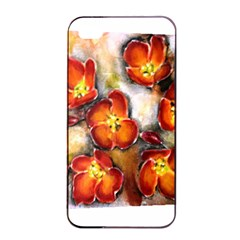 Fall Flowers Apple iPhone 4/4s Seamless Case (Black)
