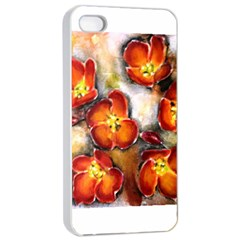 Fall Flowers Apple iPhone 4/4s Seamless Case (White)