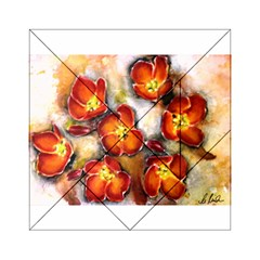 Fall Flowers Acrylic Tangram Puzzle (6  x 6 )