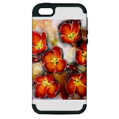 Fall Flowers Apple Iphone 5 Hardshell Case (pc+silicone)