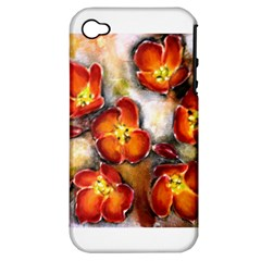 Fall Flowers Apple Iphone 4/4s Hardshell Case (pc+silicone)