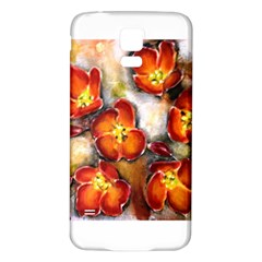 Fall Flowers Samsung Galaxy S5 Back Case (white)