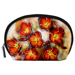 Fall Flowers Accessory Pouches (Large)