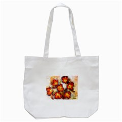 Fall Flowers Tote Bag (White)
