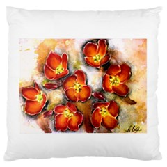 Fall Flowers Standard Flano Cushion Cases (One Side)