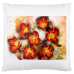 Fall Flowers Large Flano Cushion Cases (one Side)