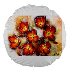 Fall Flowers Large 18  Premium Flano Round Cushions