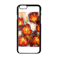 Fall Flowers Apple iPhone 6 Black Enamel Case