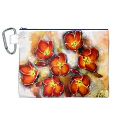 Fall Flowers Canvas Cosmetic Bag (XL)