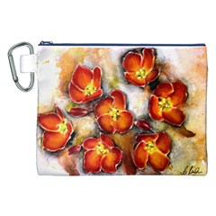 Fall Flowers Canvas Cosmetic Bag (xxl)