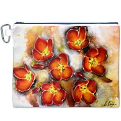 Fall Flowers Canvas Cosmetic Bag (XXXL)