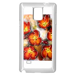 Fall Flowers Samsung Galaxy Note 4 Case (White)