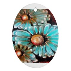 Fall Flowers No  2 Ornament (oval)