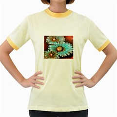 Fall Flowers No. 2 Women s Fitted Ringer T-Shirts