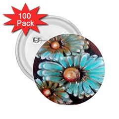 Fall Flowers No  2 2 25  Buttons (100 Pack)