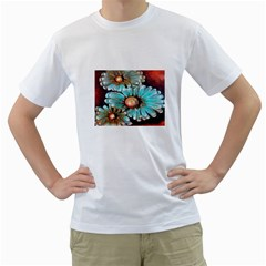 Fall Flowers No. 2 Men s T-Shirt (White) (Two Sided)