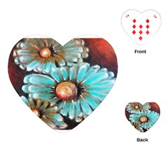 Fall Flowers No  2 Playing Cards (heart)