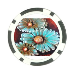Fall Flowers No  2 Poker Chip Card Guards