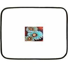 Fall Flowers No. 2 Fleece Blanket (Mini)
