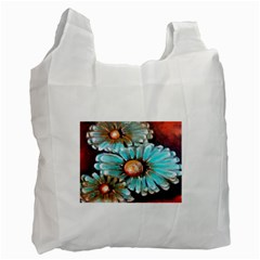 Fall Flowers No  2 Recycle Bag (two Side)