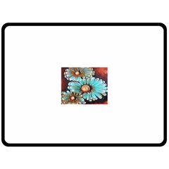 Fall Flowers No  2 Fleece Blanket (large)