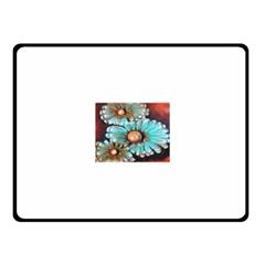 Fall Flowers No. 2 Fleece Blanket (Small)