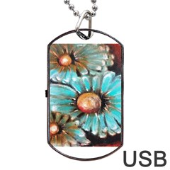 Fall Flowers No. 2 Dog Tag USB Flash (Two Sides)