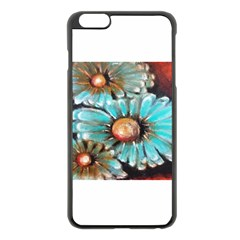 Fall Flowers No  2 Apple Iphone 6 Plus Black Enamel Case