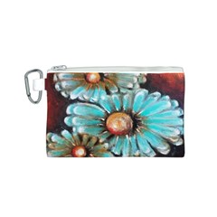 Fall Flowers No. 2 Canvas Cosmetic Bag (S)