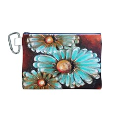 Fall Flowers No. 2 Canvas Cosmetic Bag (M)