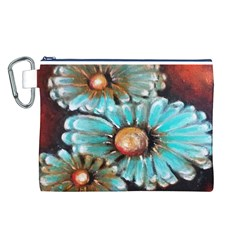 Fall Flowers No  2 Canvas Cosmetic Bag (l)