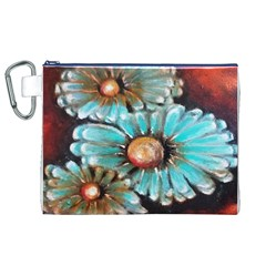 Fall Flowers No. 2 Canvas Cosmetic Bag (XL)