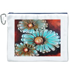 Fall Flowers No. 2 Canvas Cosmetic Bag (XXXL)