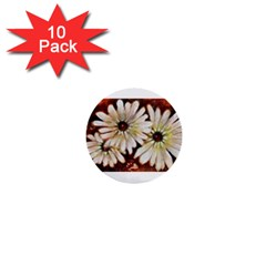 Fall Flowers No  3 1  Mini Buttons (10 Pack)
